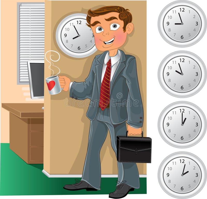 filiżanka pracownik biurowy herbaciany ilustracji