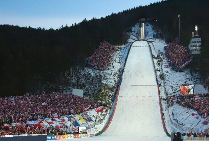 filiżanka skokowy świat narciarski zdjęcie royalty free