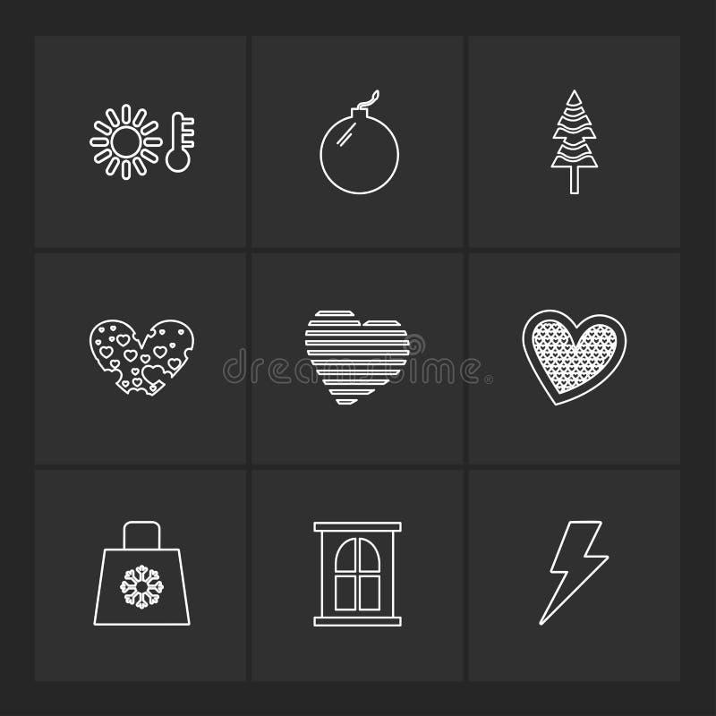 filiżanka, torba, flaga, serca, kamera, pupil, flaga, eps ico royalty ilustracja