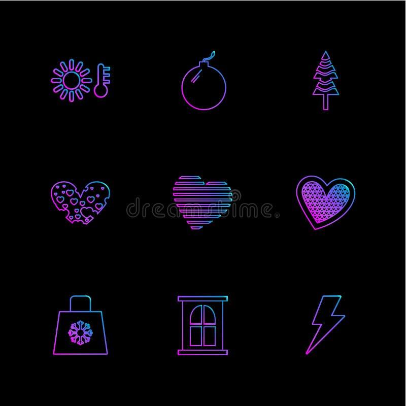 filiżanka, torba, flaga, serca, kamera, pupil, flaga, eps ico ilustracja wektor