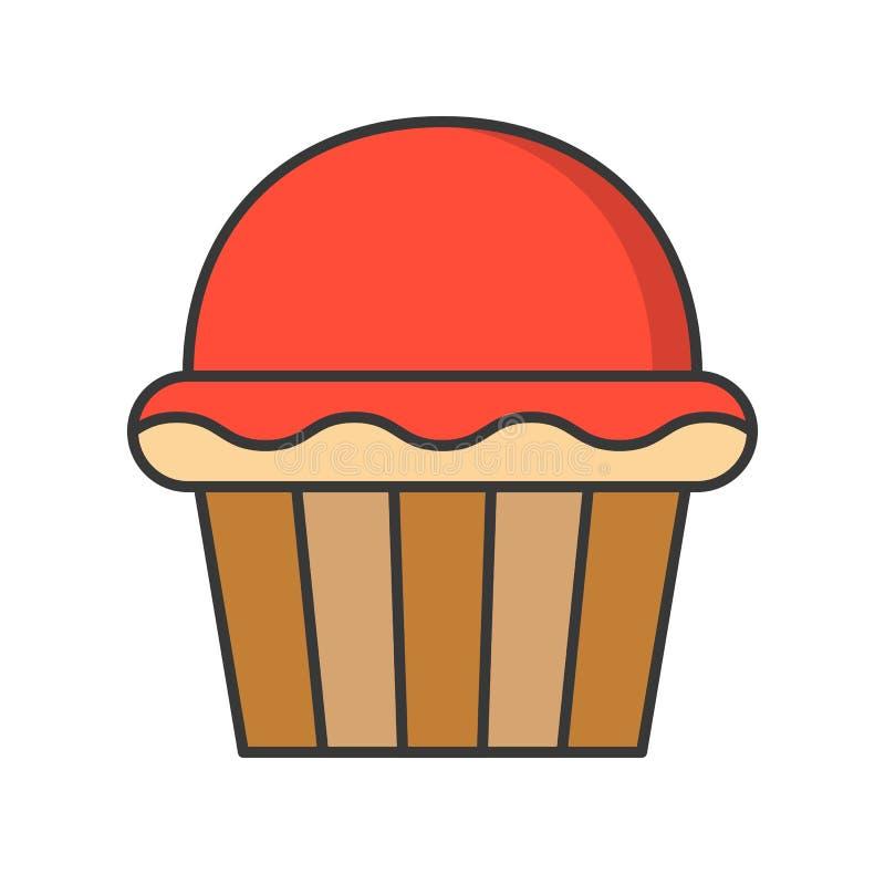 Filiżanka tort cukierki i ciasto set, wypełniał kontur ikonę ilustracji