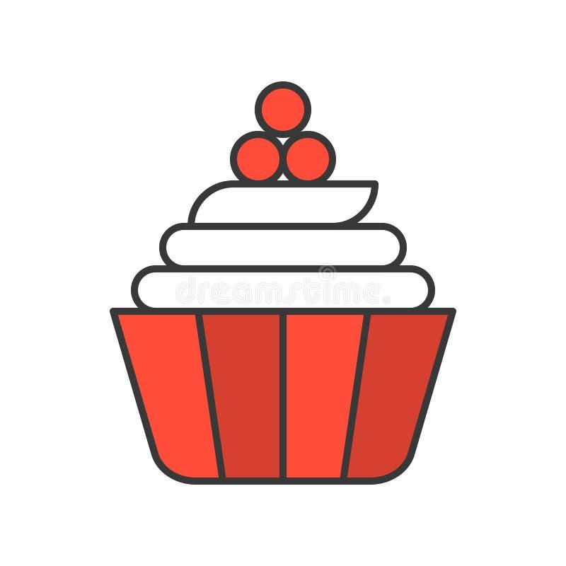 Filiżanka tort cukierki i ciasto set, wypełniał kontur ikonę royalty ilustracja