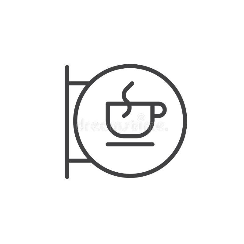 Filiżanka znaka linii ikona ilustracji