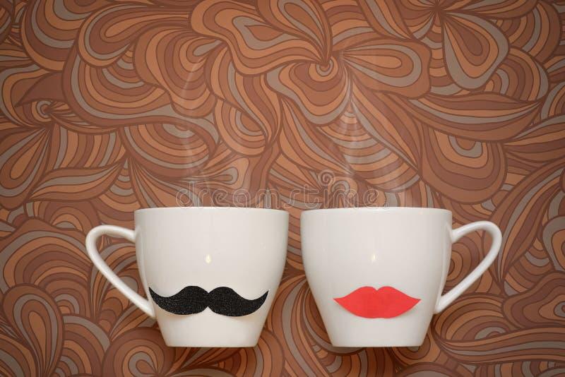 Filiżanki świeża kawa zdjęcie royalty free