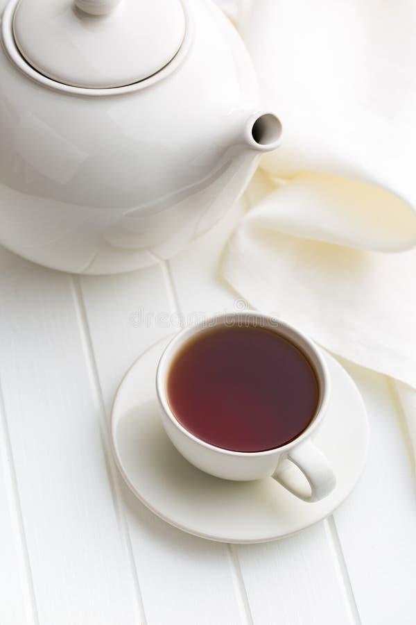 filiżanki czarny herbata obraz royalty free
