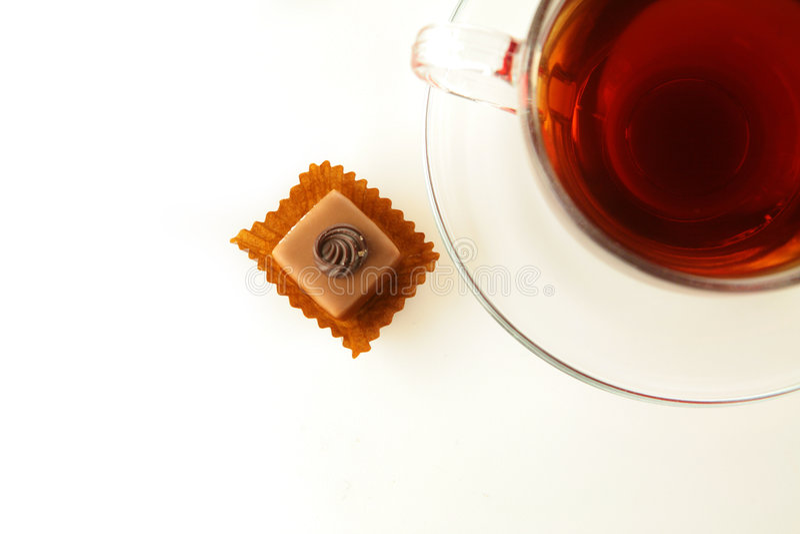 filiżanki czekoladowa herbata fotografia stock