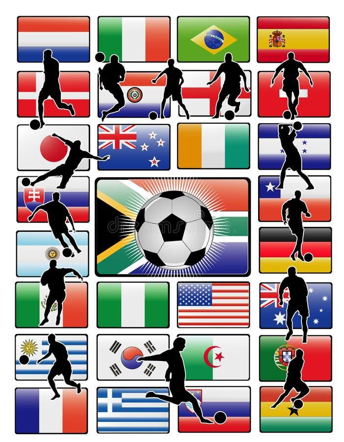 filiżanki flaga wektorowy świat royalty ilustracja