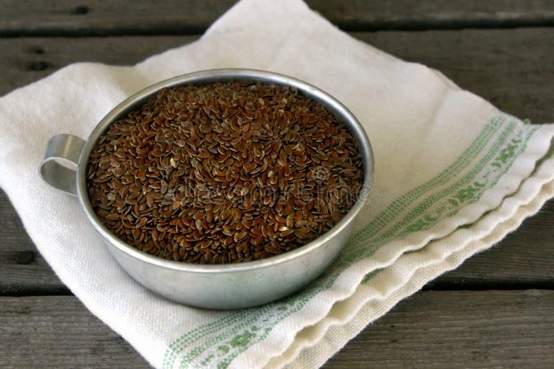 filiżanki flaxseed obrazy stock