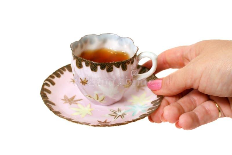 filiżanki herbaty ręce zdjęcia royalty free