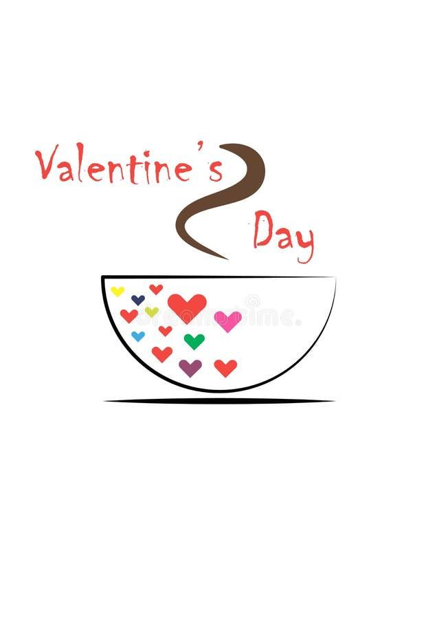 Filiżanki kawa i miłość obraz royalty free