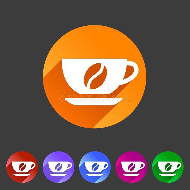 Filiżanki kawowej fasoli ikony sieci znaka symbolu loga etykietki płaski set ilustracji