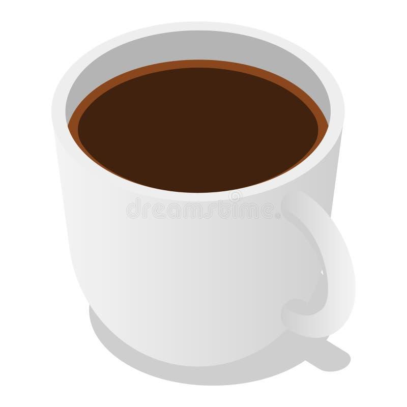 Filiżanki kawy ikony set, isometric styl ilustracja wektor