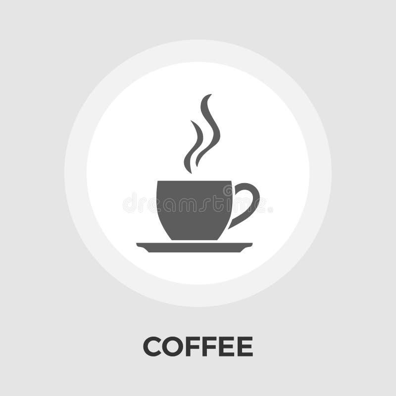 Filiżanki kawy mieszkania ikona ilustracja wektor