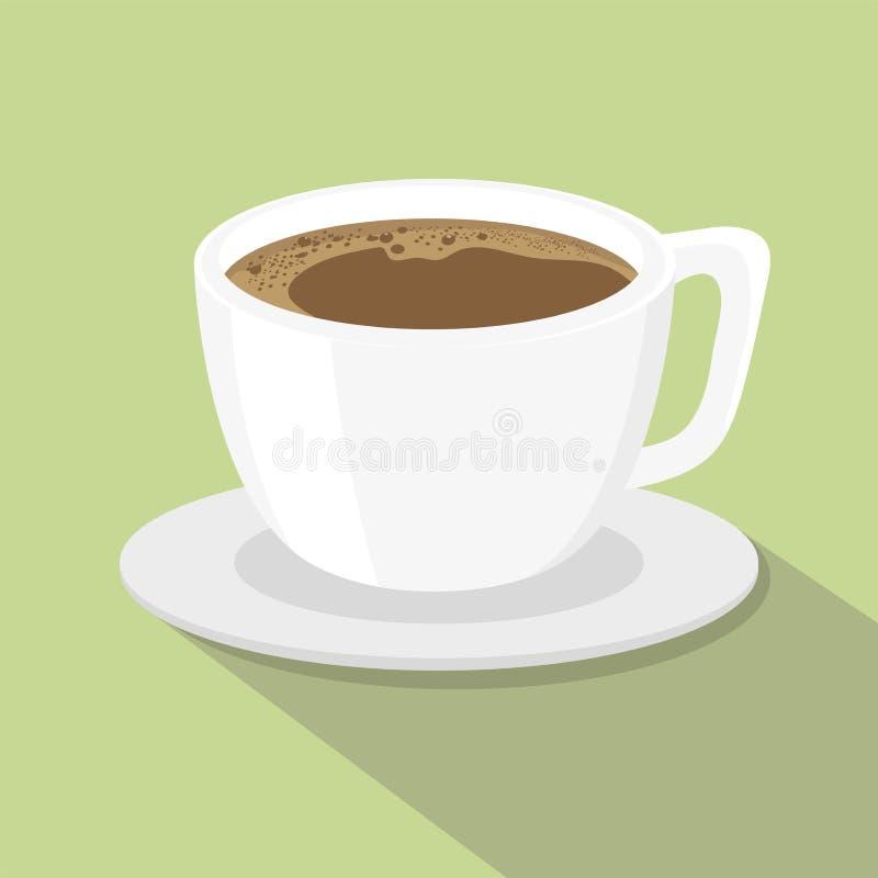Filiżanki kawy mieszkania stylu wektoru ilustracja ilustracji