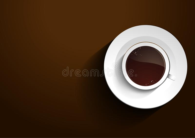 Filiżanki kawy wektor ilustracja wektor