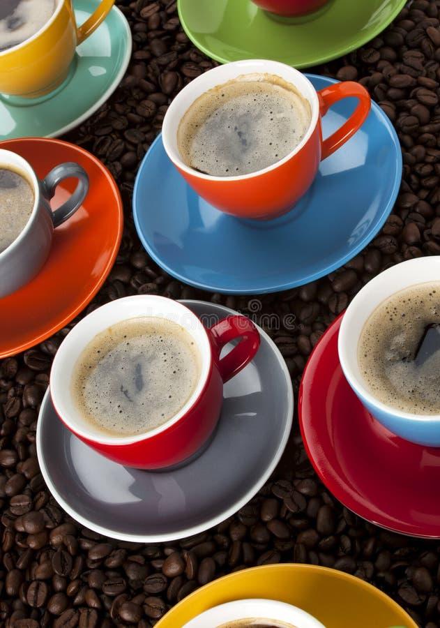 filiżanki kolorowa kawa espresso obraz royalty free