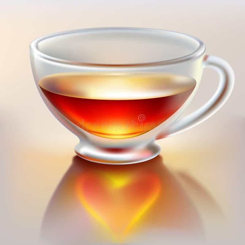 filiżanki miłości herbata ilustracja wektor