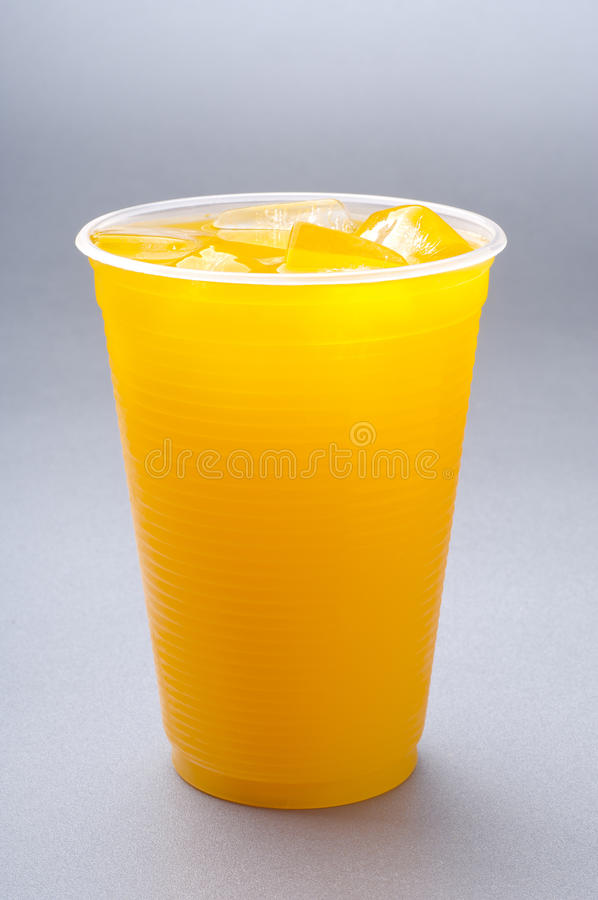 filiżanki soku pomarańcze zdjęcie royalty free