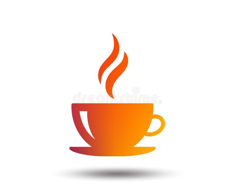 Filiżanki szyldowa ikona Gorący kawowy guzik ilustracja wektor