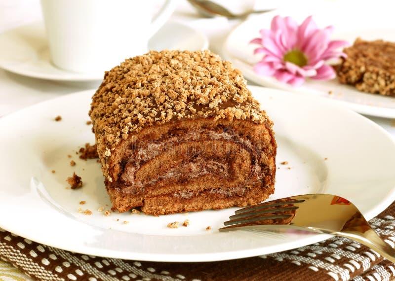 filiżanki tortowa czekoladowa herbata fotografia royalty free