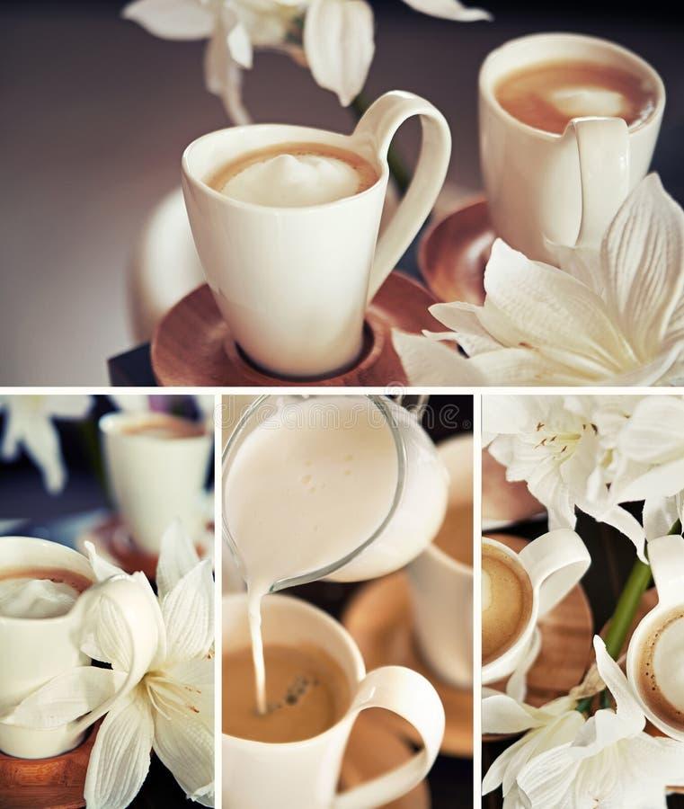 Filiżanki z kwiatami zdjęcie stock