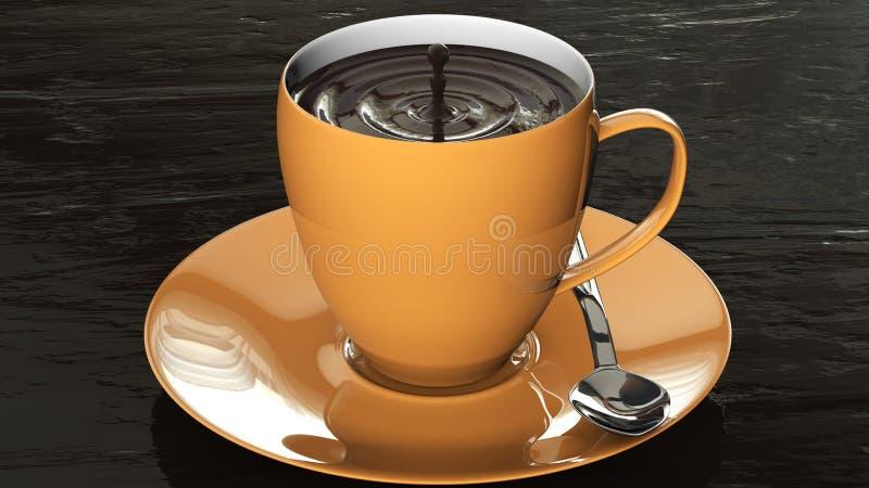Download Filiżanka czekolada ilustracji. Ilustracja złożonej z przyjemność - 53779062
