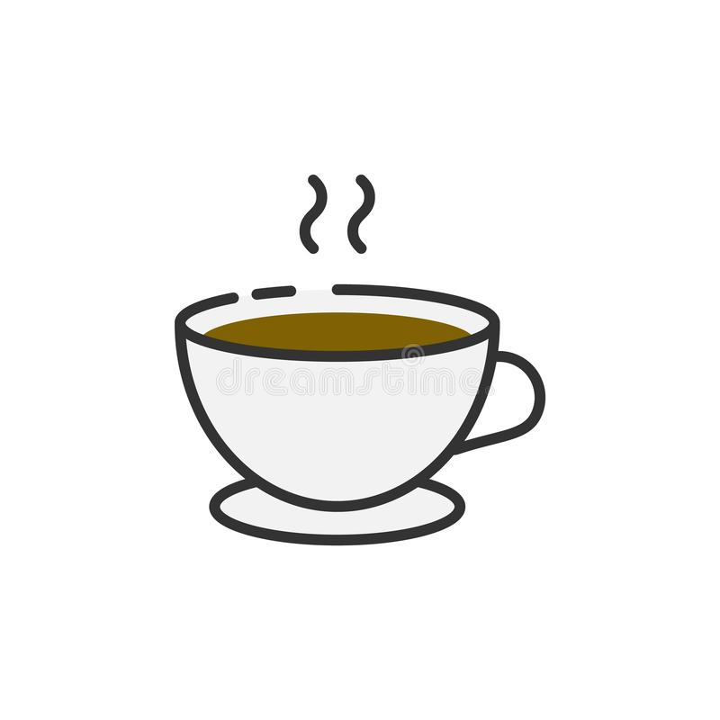 Fili?anka kawy konturu ikona ilustracji