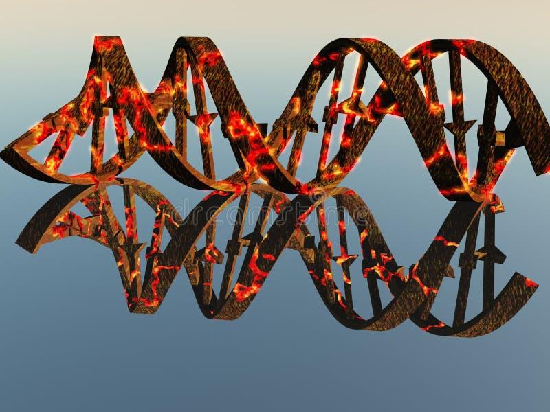 Fili nocivi del DNA illustrazione vettoriale
