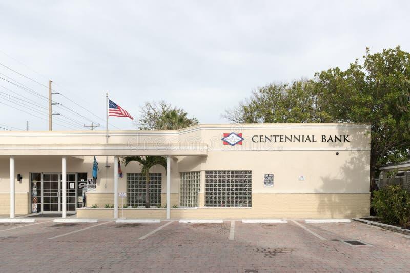 Filia Centennial bank fotografia stock