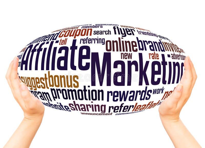 Filia marketingu słowa chmury ręki sfery pojęcie zdjęcie stock