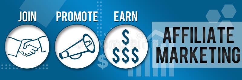 Filiaal dat Drie Cirkels Bedrijfs Horizontaal Thema op de markt brengt royalty-vrije illustratie