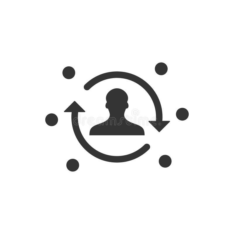 filiaal marketing pictogram stock illustratie