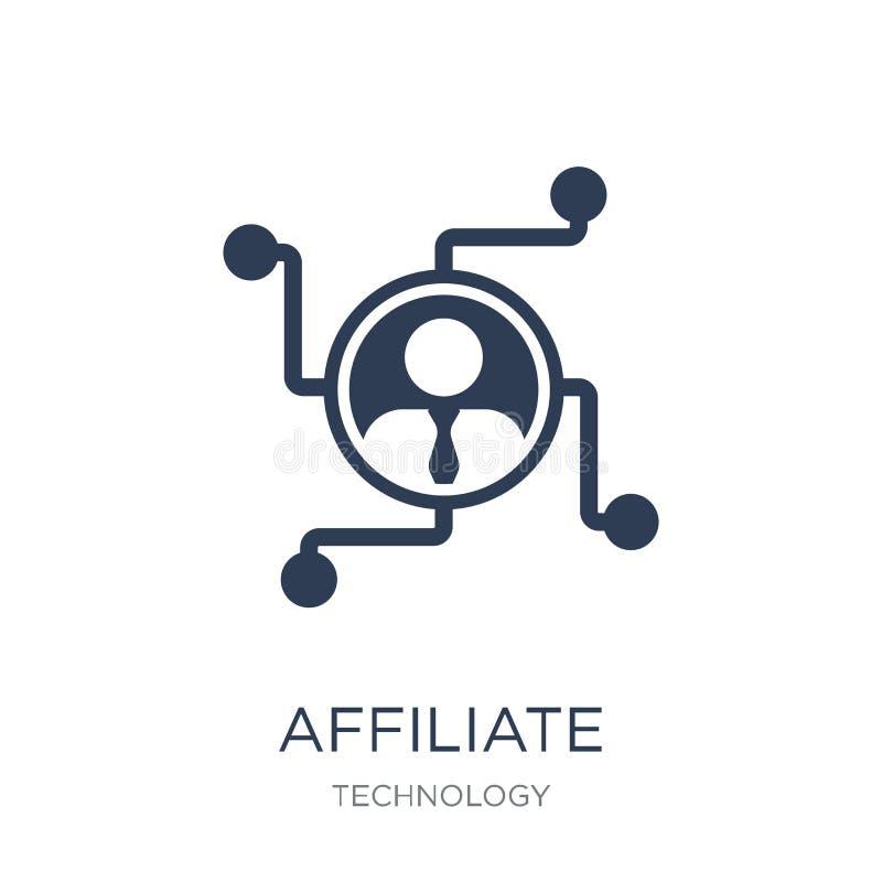 filiaal marketing pictogram In vlak vectorpartnermarketing royalty-vrije illustratie