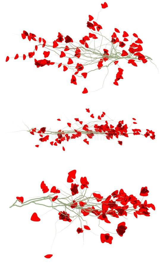 Filiais de uma árvore do amor imagens de stock