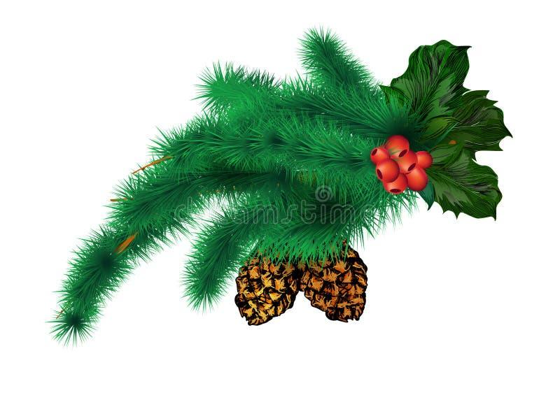 Filial av julgranen stock illustrationer