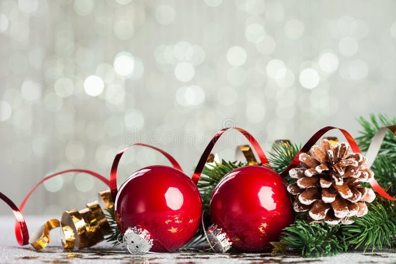 Filial av julgranen arkivfoto