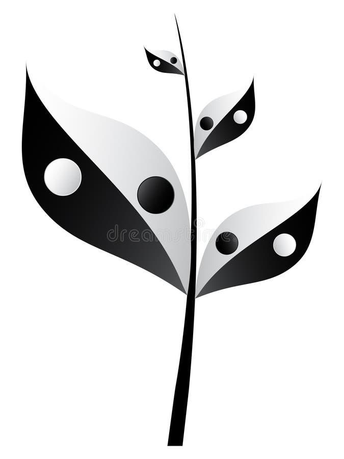 Filial de árvore ilustração royalty free
