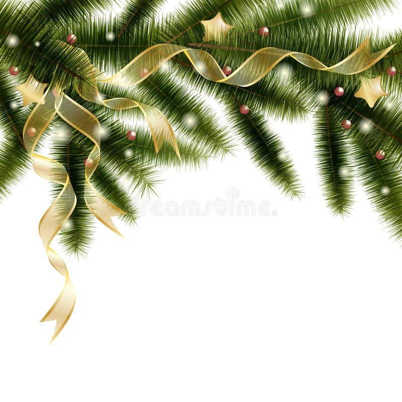 Filial de árvore do Natal ilustração royalty free