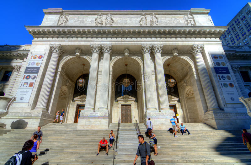 Filial principal de biblioteca pública de New York City fotos de stock royalty free