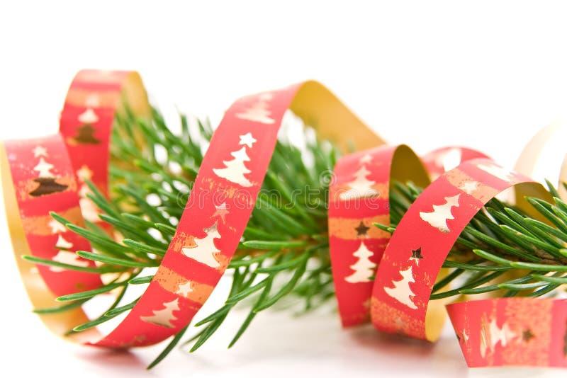 Download Filiale Decorata Dell'albero Di Natale Immagine Stock - Immagine di verde, background: 7308929