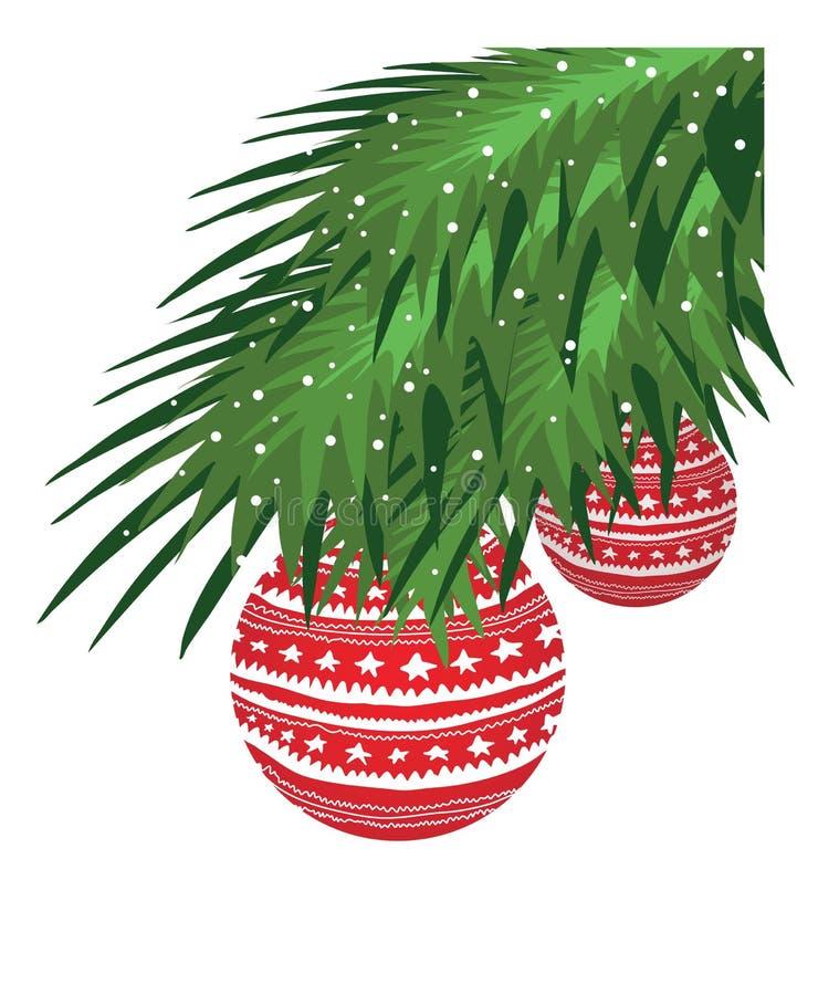 Filiale dell'albero di Natale illustrazione di stock