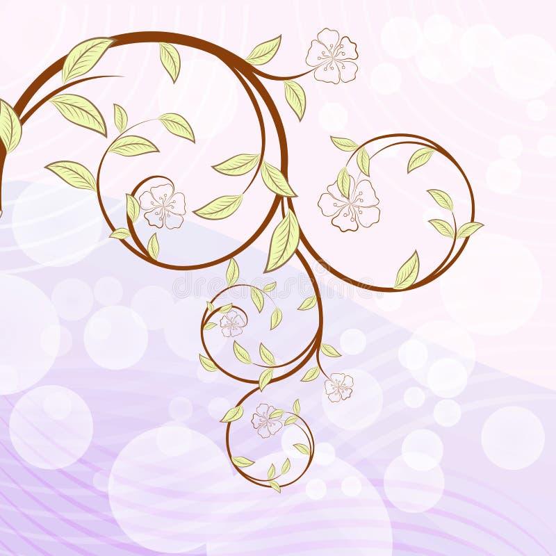Filiale di albero di fioritura illustrazione di stock
