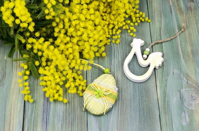 Filialer av mimosan och upphängning arkivfoton