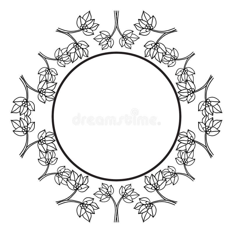 Filialer blommar isolerat på vit bakgrund, blom- ramdesignbeståndsdelar för inbjudningar, hälsningkort vektor royaltyfri illustrationer