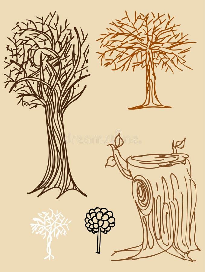 Filiali di albero illustrazione vettoriale