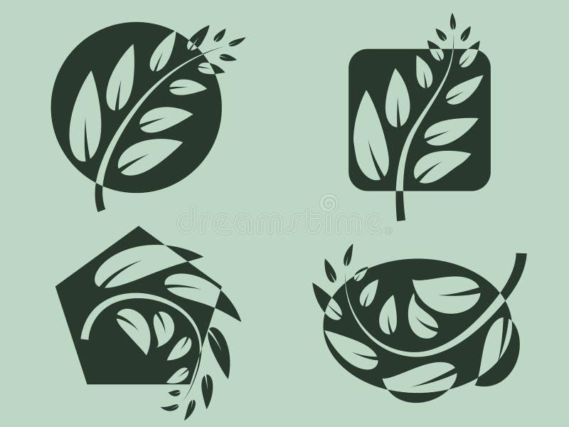 filiallogoer royaltyfri illustrationer