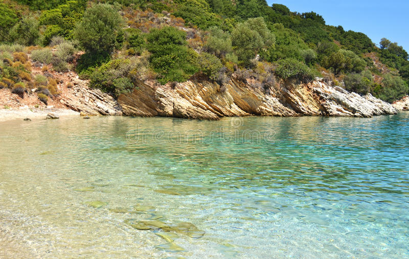 Filiatro beach Ithaca Greece stock images