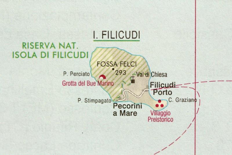 Filicudi Ön av Sicilien, Lipari, Italien arkivfoto