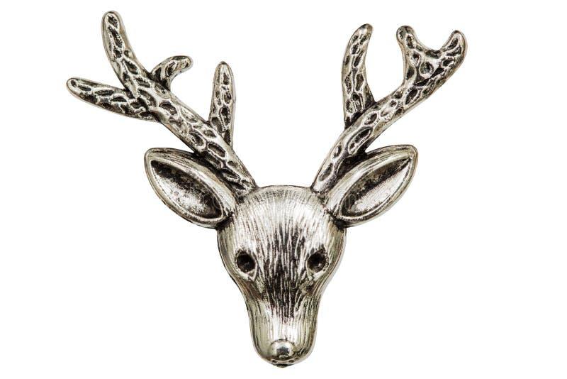 Filigraan in de vorm van een hoofd, decoratief element van herten voor ma stock foto