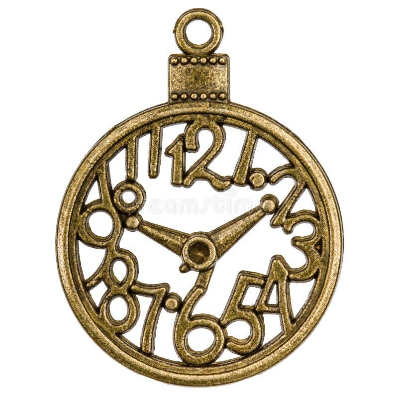 Filigraan in de vorm van een klok, decoratief element voor handw stock foto